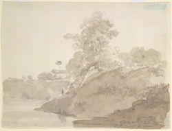 View of the river bank of the Ganges or Bhagirathi (Bihar or Bengal). September 1788